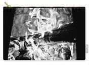 Fireplace Black And White Carry-all Pouch