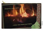 Fireside Christmas Greeting Carry-all Pouch