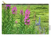 Fireweed In The Foreground Carry-all Pouch