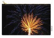 Firework Blue And Gold Carry-all Pouch
