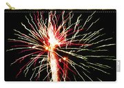 Firework Pink And Green Streaks Carry-all Pouch