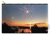 Fireworks And Sunset Carry-all Pouch by Amber Flowers