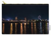 Fireworks And The Blue Bridge Carry-all Pouch