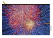 Fireworks Celebration Glow Square Carry-all Pouch