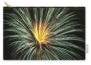 Fireworks Green Flower  Carry-all Pouch