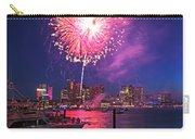 Fireworks Over The Boston Skyline Boston Harbor Illumination Carry-all Pouch