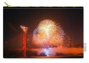 Fireworks Over The Golden Gate Bridge Carry-all Pouch
