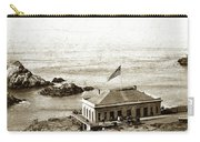 First Cliff House  View Of Ropes From The Cliff House To Seal Rock Circa 1865 Carry-all Pouch
