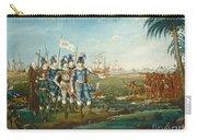 First Landing Of Christopher Columbus Carry-all Pouch
