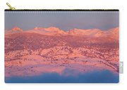 First Light Colorado Rocky Mountains Panorama Carry-all Pouch