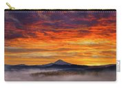 First Light On Mount Hood During Sunrise Carry-all Pouch
