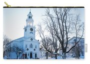 First Parish Church Manchester Ma North Winter Snow Carry-all Pouch