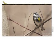 First Warbler Back Yellow Rumped Warbler Carry-all Pouch