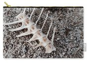 Fish Bones In Sand Carry-all Pouch