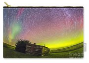 Fish-eye Lens Composite Of Aurora Carry-all Pouch