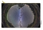 Fish-eye Panorama Of Milky Way Over Red Carry-all Pouch
