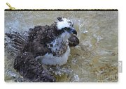Fish Hawk Splashing In Water Carry-all Pouch