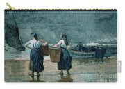 Fisher Girls By The Sea Carry-all Pouch by Winslow Homer