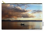 Fisherman At Sunset On Lake Titicaca Carry-all Pouch