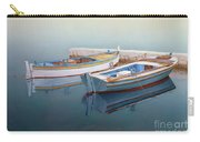 Coastal Wall Art, Fisherman In A Calm, Fishing Boat Paintings Carry-all Pouch