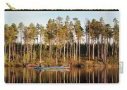 Fisherman On Evening Lake Carry-all Pouch