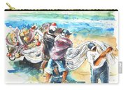 Fishermen In Praia De Mira Carry-all Pouch