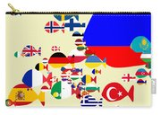 Fishes Map Of Europe Carry-all Pouch