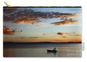 Fishing At Sunset On Lake Titicaca Carry-all Pouch