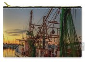 Fishing Boat At Sunset Carry-all Pouch