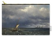 Fishing Boat At The Sea Carry-all Pouch