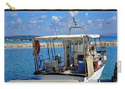 Fishing Boat Moored In The Harbor Of Katakolon Greece Carry-all Pouch