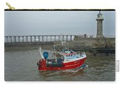 Fishing Boat Wy110 Emulater - Entering Whitby Harbour Carry-all Pouch