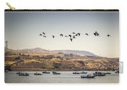 Fishing Boats And Blue Herons Carry-all Pouch