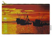 Fishing Boats At Sunset Carry-all Pouch