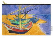 Fishing Boats On The Beach At Saintes Maries De La Mer Carry-all Pouch