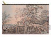 Fishing By A Footbridge Carry-all Pouch