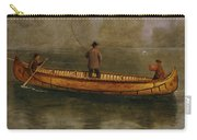 Fishing From A Canoe Carry-all Pouch by Albert Bierstadt