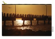 Fishing Off The Pier At Fort De Soto At Dusk Carry-all Pouch