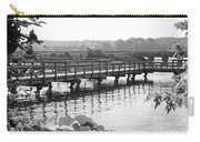 Fishing Pier And Train Tracks Carry-all Pouch