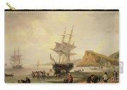 Fishing Scene, Teignmouth Beach And The Ness, 1831 Carry-all Pouch