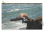 Fishing Sea Lion Carry-all Pouch