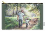 Fishing With My Dad  Carry-all Pouch by Laurie Shanholtzer
