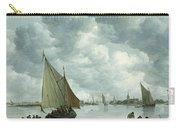 Fishingboat In An Estuary Carry-all Pouch by Jan Josephsz van Goyen