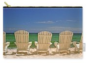 Five Chairs On The Beach Carry-all Pouch