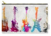 Five Colored Guitars Carry-all Pouch