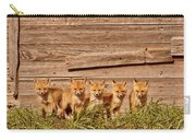 Five Fox Kits By Old Saskatchewan Granary Carry-all Pouch