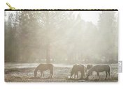 Five Horses In The Mist Carry-all Pouch