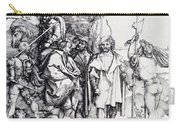 Five Lansquenets And An Oriental On Horseback 1495 Carry-all Pouch