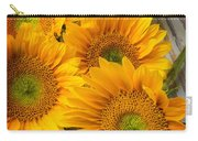 Five Moody Sunflowers Carry-all Pouch
