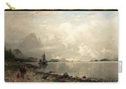 Fjord Landscape With Figures Carry-all Pouch